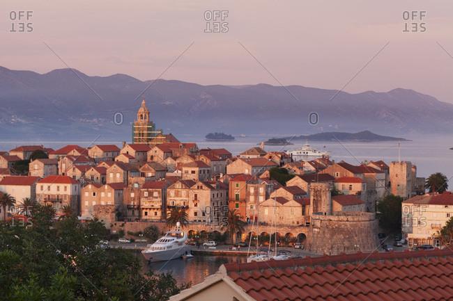 June 1, 2012: korcula, island korcula, croatian adriatic coast, dalmatia, croatia
