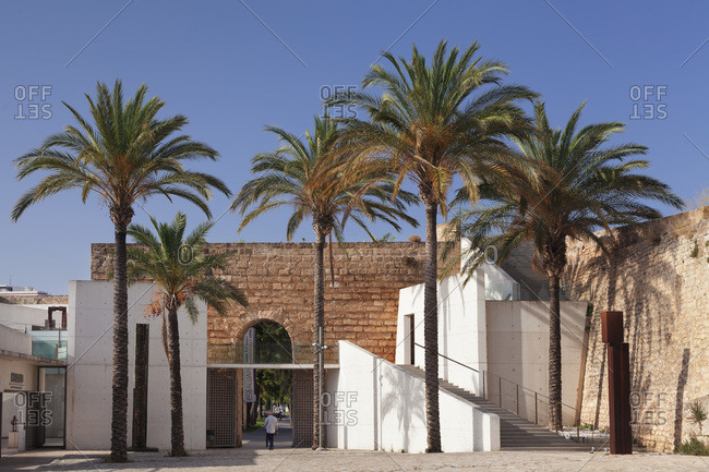 June 20, 2014: museu es baluard, museum for modern and contemporary art in the fortress of palma de majorca, majorca, the balearic islands, spain