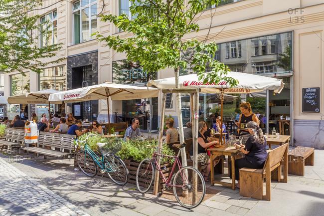 July 28, 2016: austria, vienna, spittelberg, part of town, hotspot, siebensterngasse (lane), cafe 7stern, cafe, restaurant, cultural center, event bar