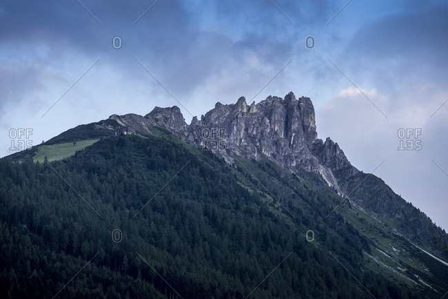 Austria, tyrol, the stubai alps, neustift, evening mood at the elferspitze in the stubaital