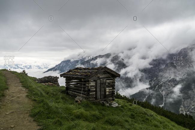 Austria, tyrol, the stubai alps, neustift, heustadl in the hiking region of the elfer in the stubaital