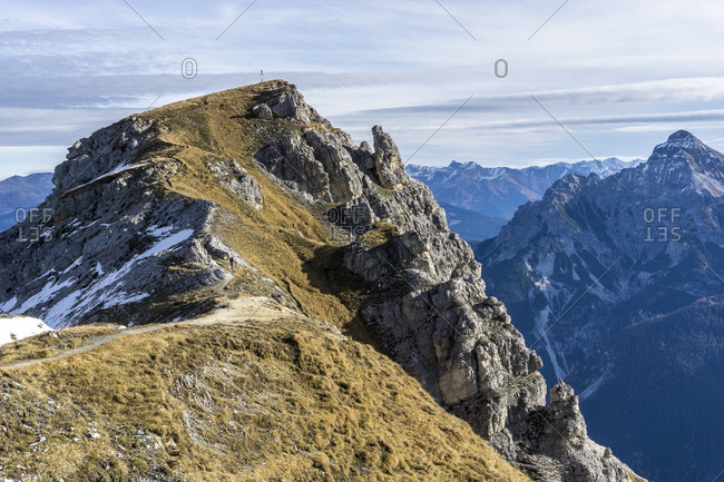 Austria, tyrol, the stubai alps, neustift, view at the niederer burgstall in the stubai alps