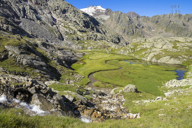 Austria, tyrol, the stubai alps, neustift, the hochmoor 'paradise' between the n�rnberger and the bremen hut