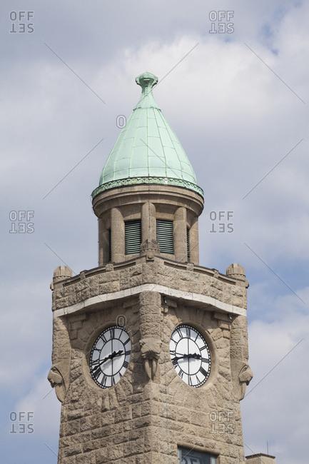 Tower of the st. pauli piers, hamburg, germany
