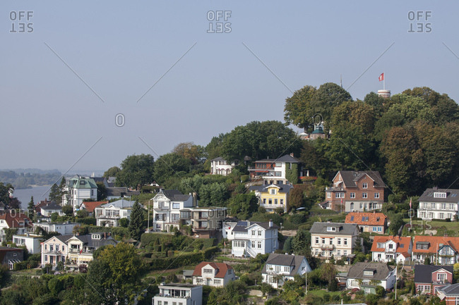 View to the sullberg, blankenese, hamburg, germany