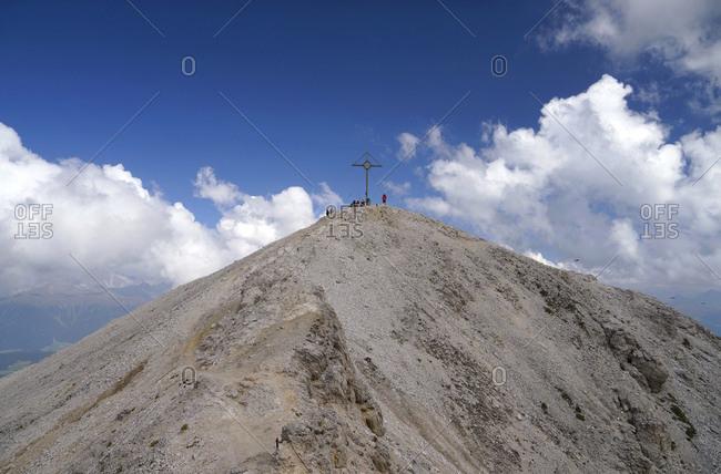Europe, italy, south tirol, pragser dolomiten / dolomiti di braies (mountains), platzwiese, durrenstein (mountain), 2839 m, summit