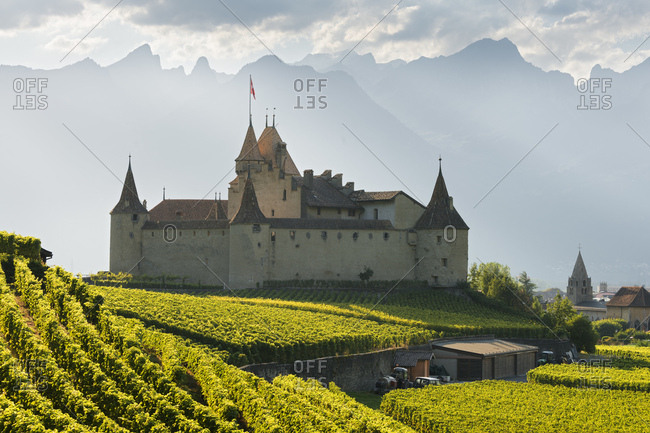 Chateau d'aigle, aigle, vaud, switzerland