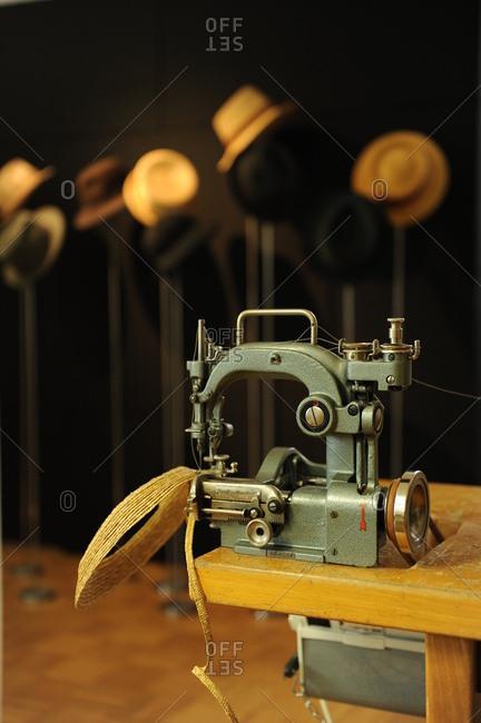 Milliner workshop and accessories