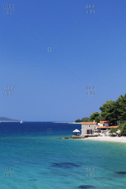 House on the beach, bol, island brac, dalmatia, croatia