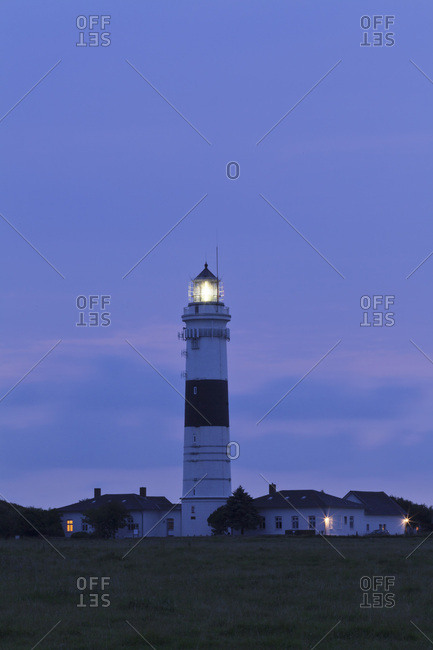 Lighthouse at kampen, sylt, north frisia, schleswig holstein, germany