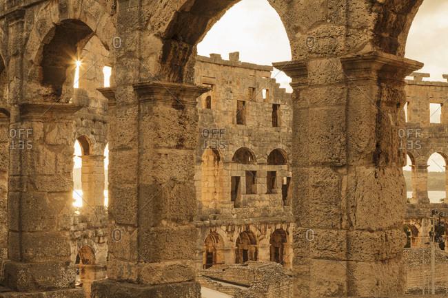 Roman amphitheater, pula, istria, croatia