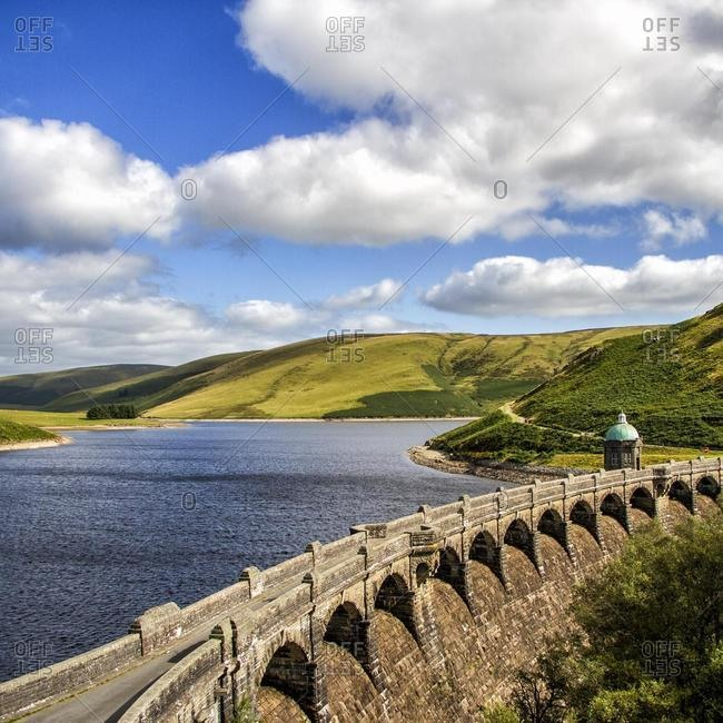 Craig Goch Reservoir Dam, Elan valley, Powys, Wales, UK