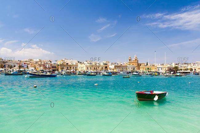 October 18, 2019: Harbor and Villagescape, Marsaxlokk, Malta