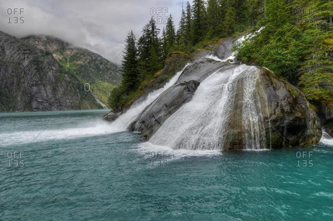 Ice Falls in Tracy Arm Fjord, Tongass National Forest, Juneau, Alaska, USA