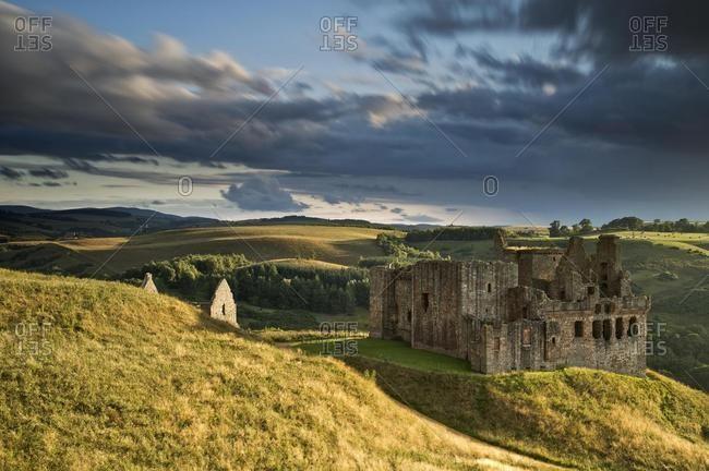 Ruins of Crichton Castle, Pathhead, Midlothian, Scotland, United Kingdom