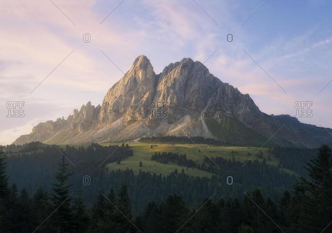 Mountain landscape at Sunrise, Dolomites, Italy
