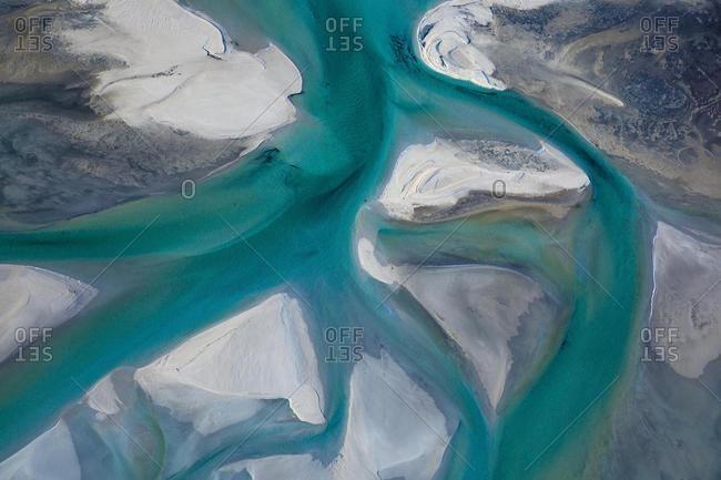 Aerial View of ocean and beach coastline, Western Australia, Australia