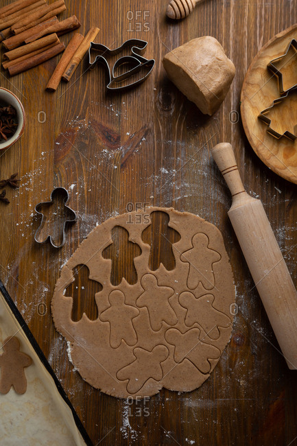 Cutouts for gingerbread cookies