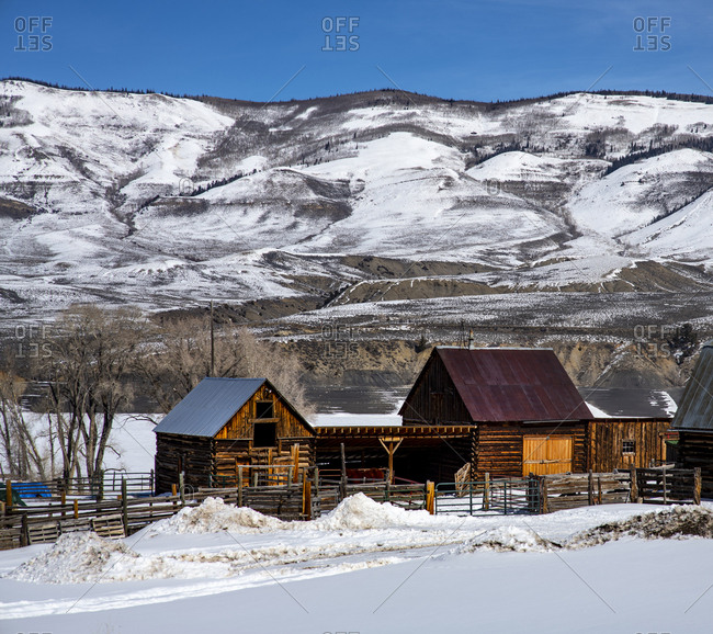 Historic ranch buildings near Heeney, Colorado.