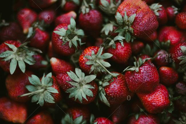 Red fresh organic strawberries - Offset