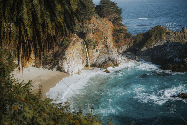 High angle view of McWay Falls