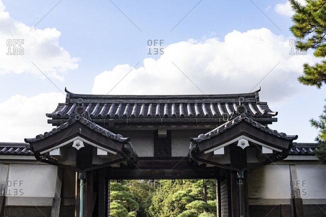 Otemon gate of the imperial palace of Tokyo- Japan