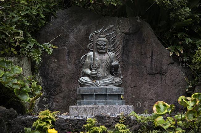 Decorative statue at Hase-dera Temple in Kamakura- Japan