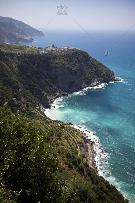 Corniglia at the Mediterranean Sea- Liguria- Cinque Terre- Italy