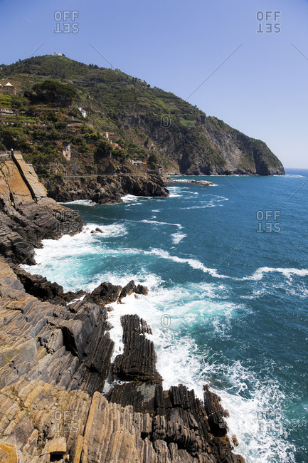 Mediterranean Sea at Manarola- Liguria- Cinque Terre- Italy