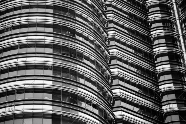 Detail of modern architecture in Kuala Lumpur- Malaysia