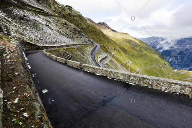 Winding road- Stelvio Pass- Trentino-Alto Adige- Italy