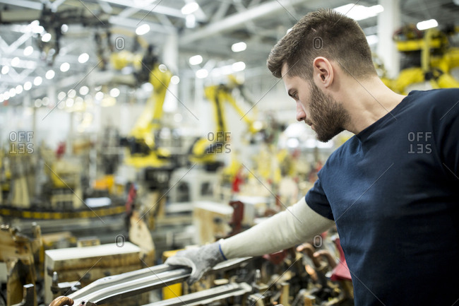 Man working in a modern factory