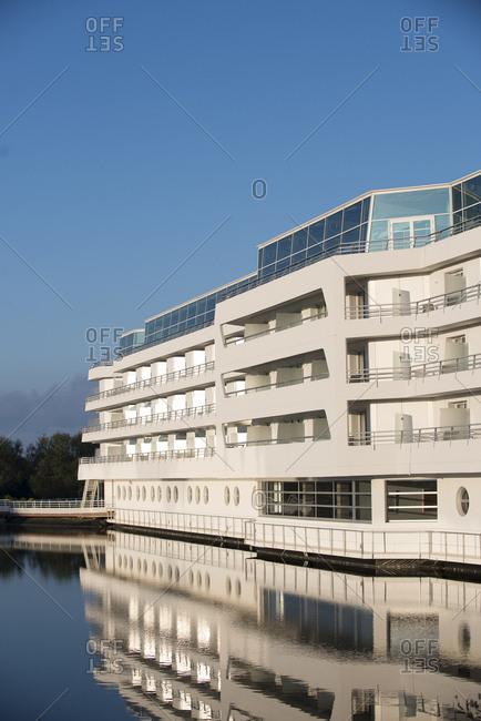 April 29, 2017: Views of Miramar La Cigale Hotel Thalasso and Spa, Arzon, France