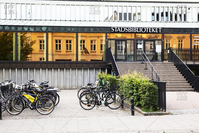 Gothenburg, Sweden - June 27, 2019: Public library building