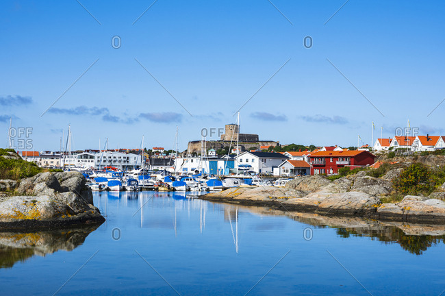 Gothenburg, Sweden - August 9, 2019: Sea bay