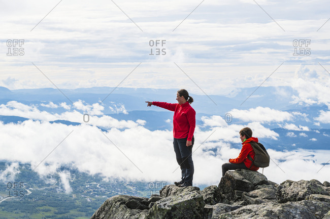 Hikers in mountains - Offset Collection