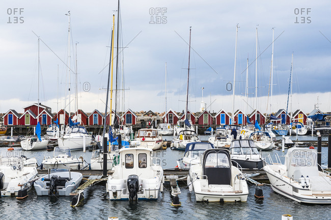 Gothenburg, Sweden - August 7, 2019: Yachts in marina