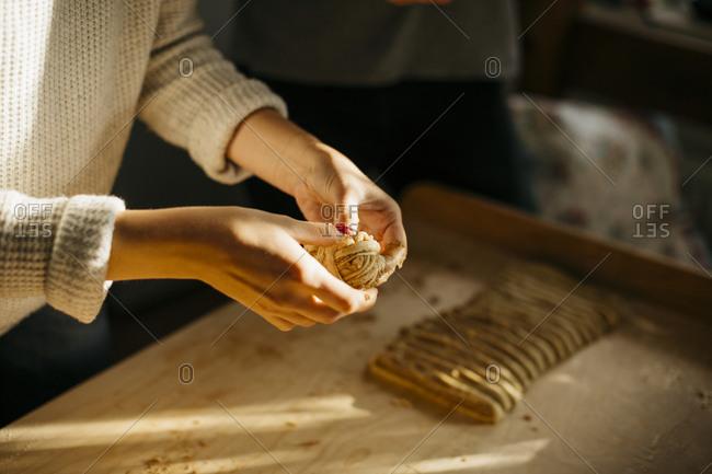 Preparing cinnamon buns - Offset Collection