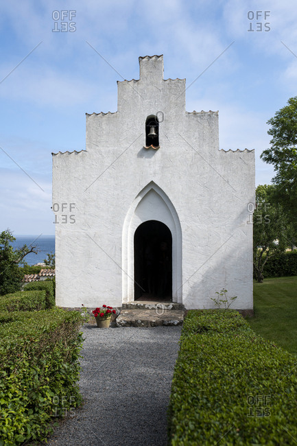 Entrance to little church