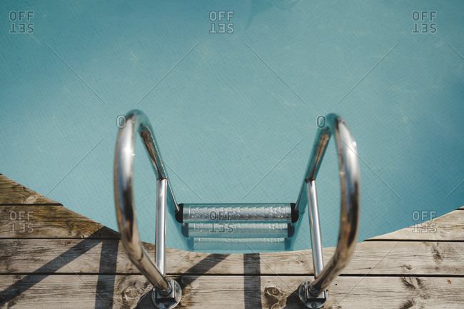 Ladder at swimming-pool