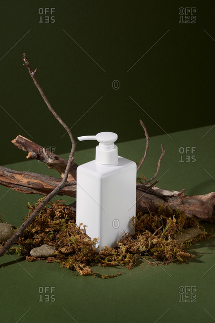 White Cosmetic Bottle With Batcher