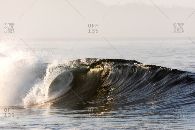 Cresting waves off the coast of Canada