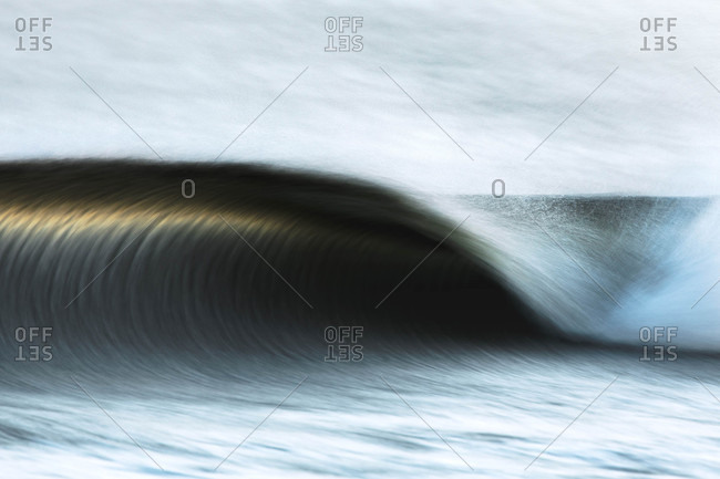 Blurred action shot of waves off the coast of Canada