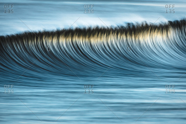 Abstract of blurred waves off the coast of Canada