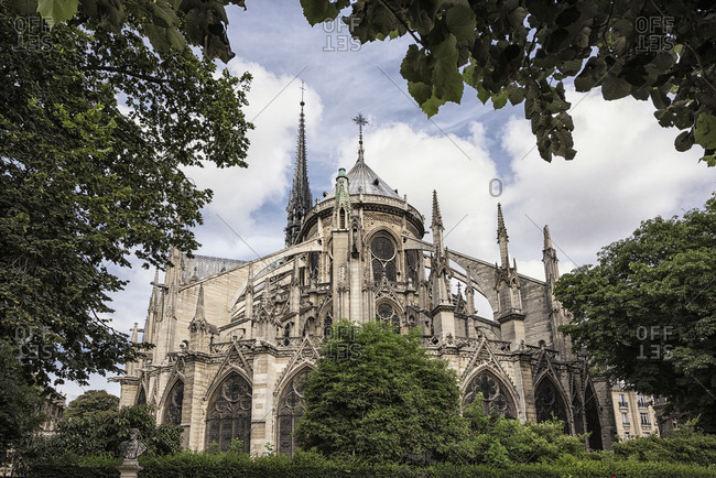 The Cathedral of Notre-Dame, a medieval Catholic cathedral on the �le de la Cit�