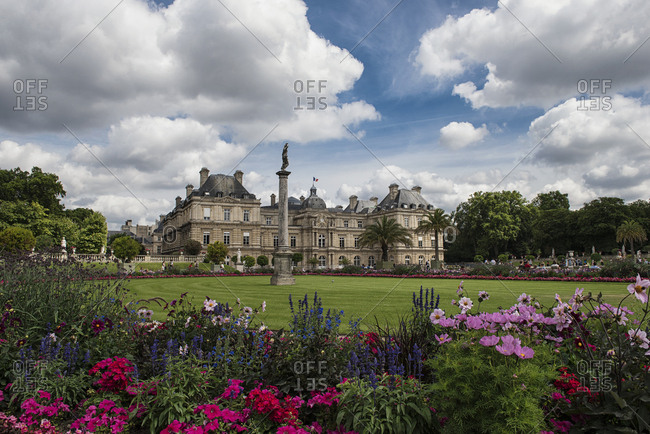 Paris, France - July 26, 2016: The Jardin du Luxembourg or the Luxembourg Gardens in Paris