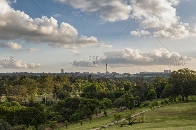 Scenic view of the Johannesburg skyline