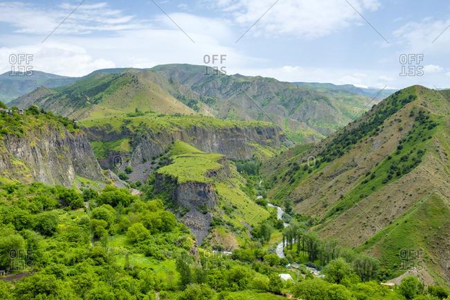 Azat River Gorge, UNESCO World Heritage Site, Garni, Kotayk Province, Armenia.