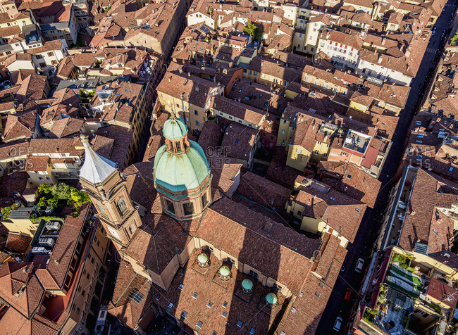 Santi Bartolomeo e Gaetano Church, elevated view, Bologna, Emilia-Romagna, Italy