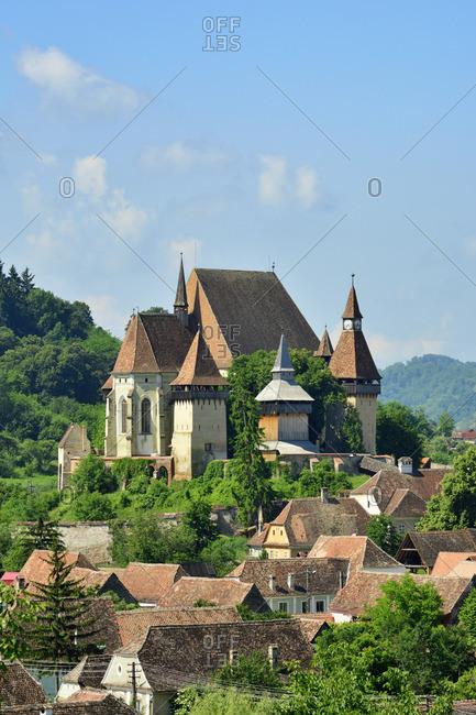 The fortified church of Biertan, a Saxon village in Transylvania. A Unesco World Heritage Site. Sibiu County, Transylvania. Romania